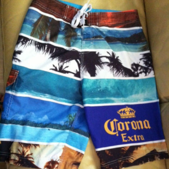 5fb78035c6 CORONA Other - CORONA MEN'S SWIM TRUNKS~SIZE 32~BEACH SCENES